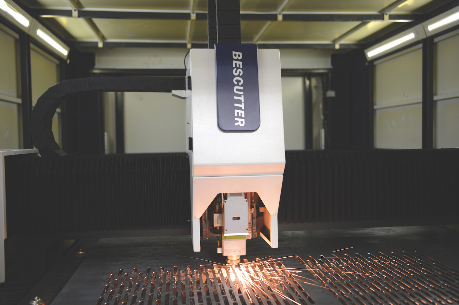 TAB Industries Laser Cutter Up Close with Sparks
